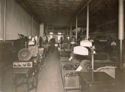 Russell Furniture Store showroom in 1922